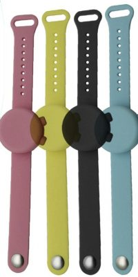 reloj dispensador desinfectante colores